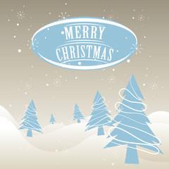 Christmas Card Postcard Christmas Tree