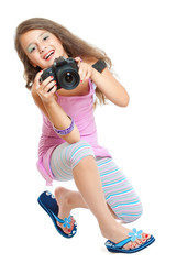 Little girl with a camera