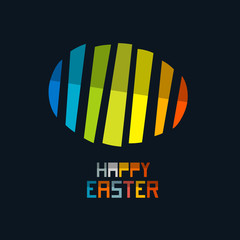 Happy Easter Vector Colorful Abstract Egg Symbol