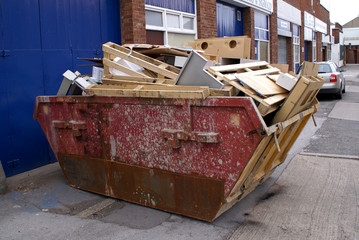commercial waste ready for recyleling