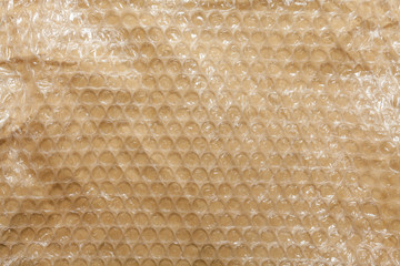 Plastic air bubble wrap background