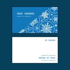 Vector falling snowflakes horizontal corner frame pattern