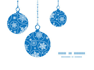 Vector falling snowflakes Christmas ornaments silhouettes