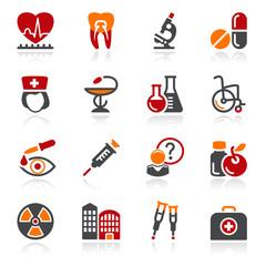 Medicine icons. Color series.
