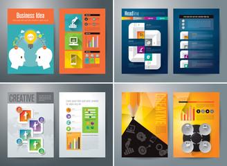 Set of Flyer, Brochure Design Templates.