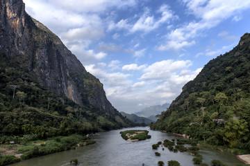 Ou River in Nong Khiaw, Laos