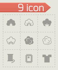 Vector cotton icon set