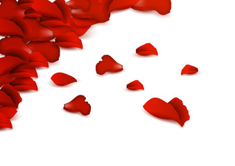 Background of rBackground of red rose petals.