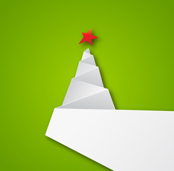 Origami Paper Christmas tree background
