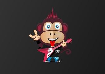 Monkey mascot rock