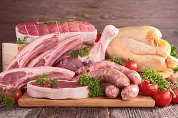 Deurstickers Vlees raw meat