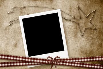 Christmas Card photo frame star of Bethlehem