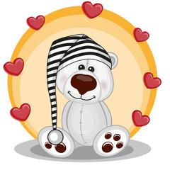 Polar Bear with hearts