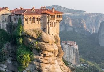 Monasteries build on top of sandstone ridge Wall mural
