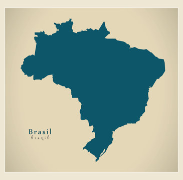 Modern Map - Brasil BR