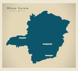 Modern Map - Minas Gerais BR