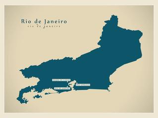 Modern Map - Rio de Janeiro BR