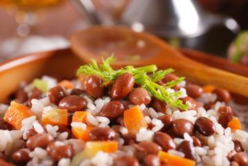 minestra di riso e fagioli
