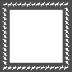 Frame of goats - a symbol of the year