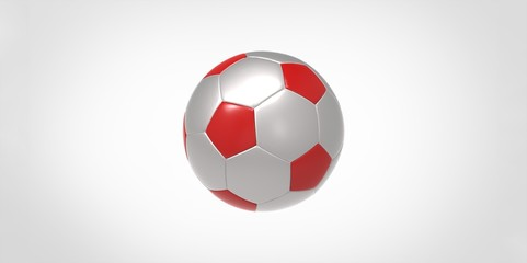 grey and red Soccer ball or football
