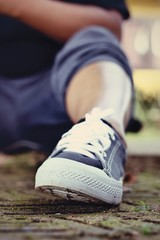 Gray Sneakers - Accessories and wearable (Sneakers).