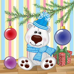 Polar Bear under the tree