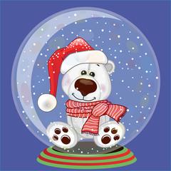 Santa Polar Bear
