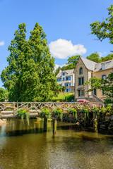 Bretagne-Finistere_Pont-Aven_Holzbrücke über den Aven
