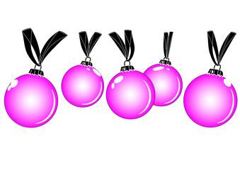 Bilder und videos suchen vectorgrafik for Pinke weihnachtskugeln