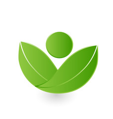 Health nature leaf figure logo vector