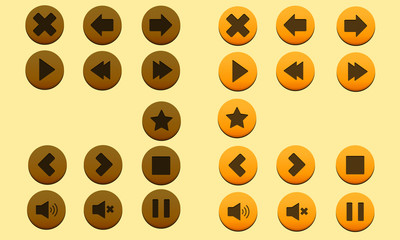 Button Game Vector