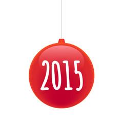 christmas ball year 2015 design