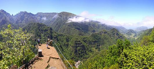 Rainforest hills on Madeira island, Portugal