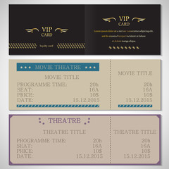 Vip Card, Movie Theatre And Theatre Flyer Template
