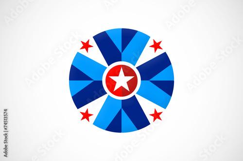 quotstar circle red blue shield logo vectorquot stockfotos und