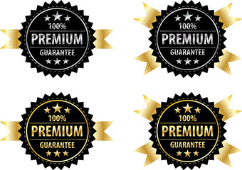 vector premium gold sign and silver sign on back  label templete
