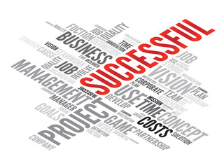 SUCCESSFUL business concept in word tag cloud, vector background