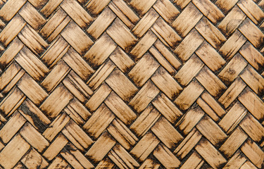 handcraft bamboo weave texture for background