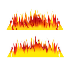 fire background flames vector illustration