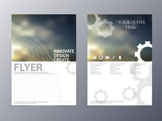 vector modern flyer design template