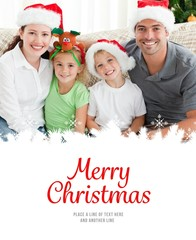 Portrait of a happy family with christmas hat