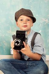 Fotograf im Retrostil