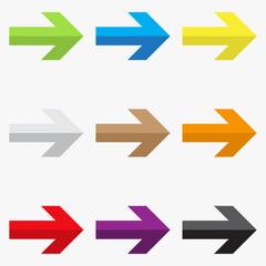 Flat Design Arrows Set