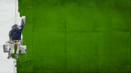 Industrial paint green background