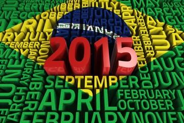 Composite image of brasil national flag