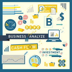 Money finance Business Analyze icon vector design