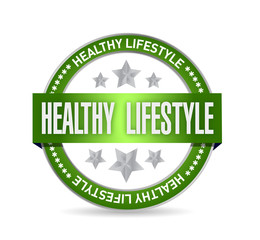 healthy lifestyle seal illustration design