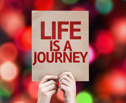 Life is a Journey card with colorful background