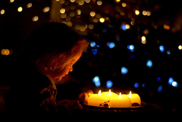 Child with candles