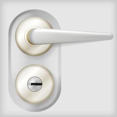 Vector illustration of door handle.